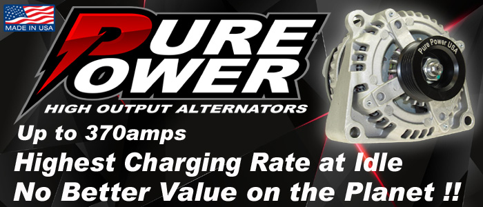 Pure Power high output alternators, Build in the Usa